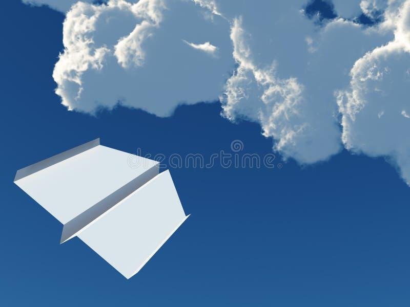 Het vliegtuig van het document stock illustratie
