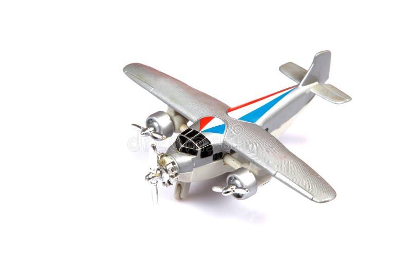 Het vliegtuig van het stuk speelgoed royalty-vrije stock foto's