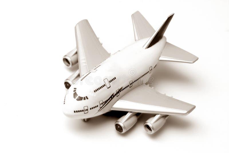 Het vliegtuig van het stuk speelgoed royalty-vrije stock fotografie