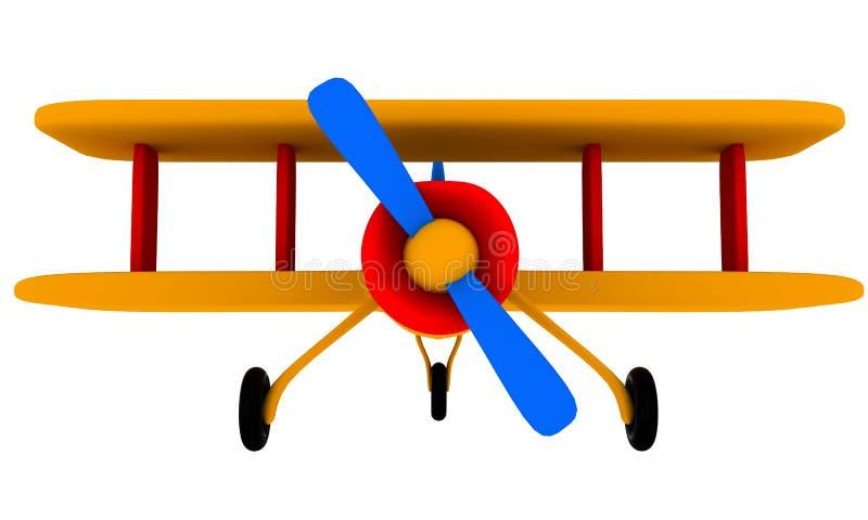 Het vliegtuig van het stuk speelgoed royalty-vrije illustratie