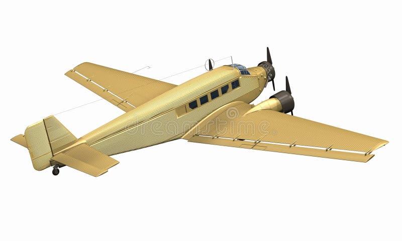 Het vliegtuig van het vliegtuig royalty-vrije illustratie