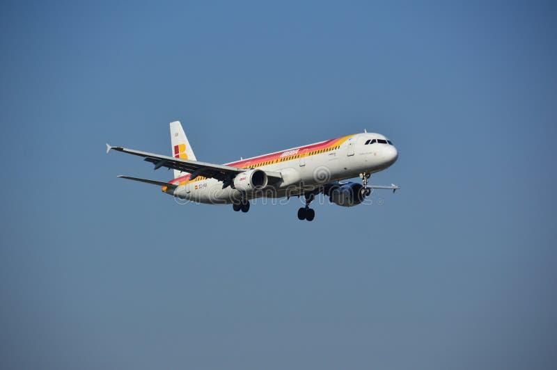 Het vliegtuig van IBERIA royalty-vrije stock fotografie