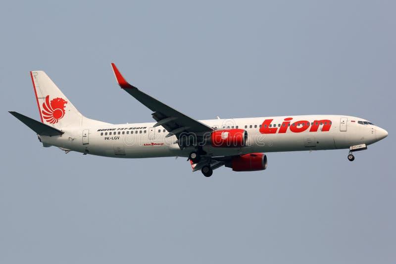 Het vliegtuig van Lion Air Boeing 737-900ER stock foto