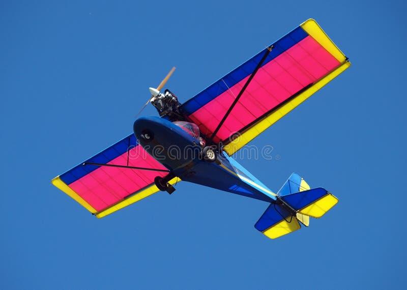 Het Vliegtuig van Microlight royalty-vrije stock afbeeldingen