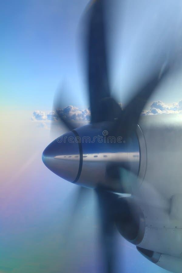 Het vliegtuigpropeller van de lucht royalty-vrije stock foto