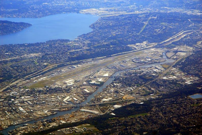 Het Vliegveld van Boeing stock afbeelding