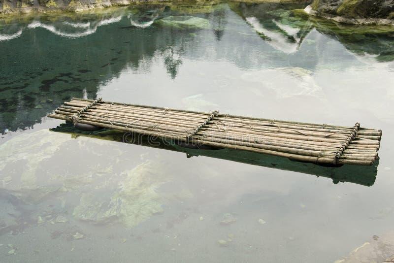 Het vlot van het bamboe stock foto's