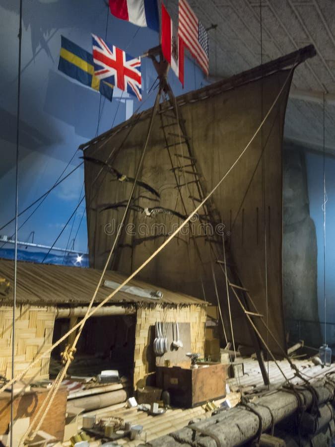 Het vlot van Kon-Tiki Thor Heyerdahl ` s royalty-vrije stock afbeeldingen