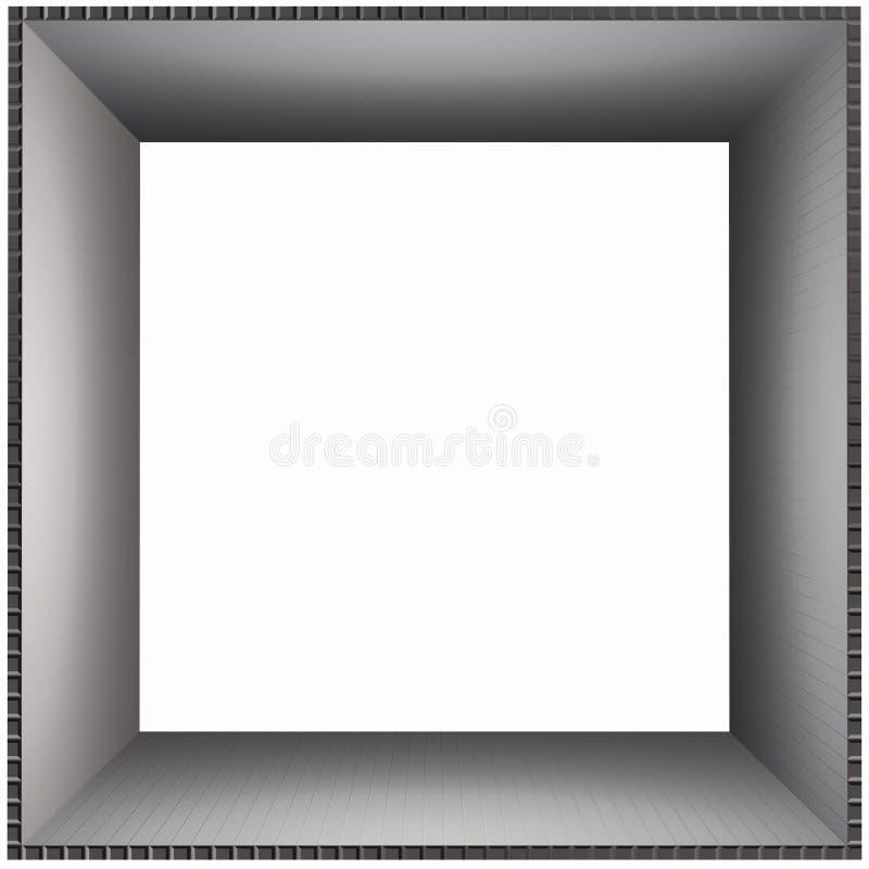 Het Vlotte Karton van het Frame van de doos stock illustratie