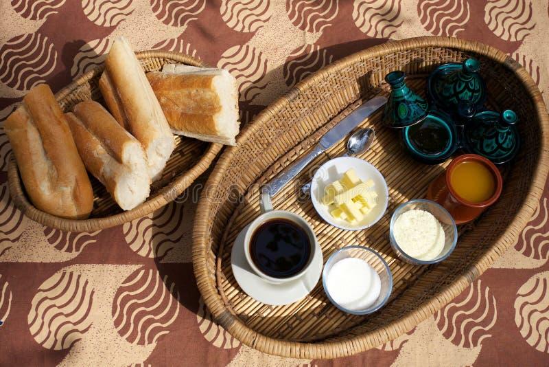 Het voedsel en de dranken van het ontbijt stock foto's