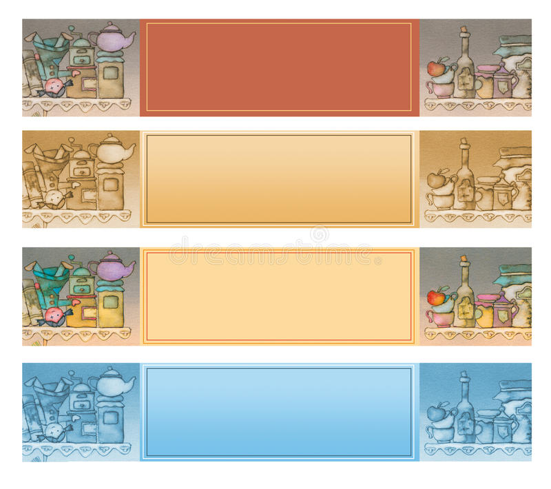 Het voedsel van banners royalty-vrije illustratie