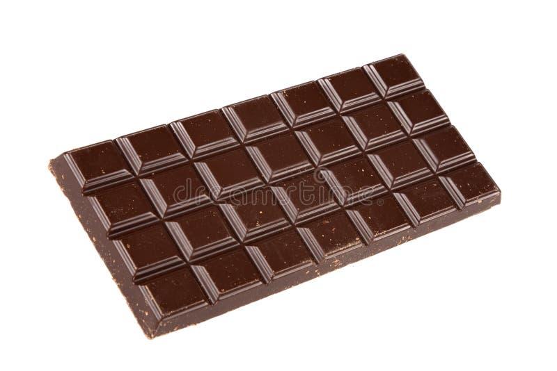 Het voedsel van de barchocolade van cacao op witte achtergrond royalty-vrije stock foto