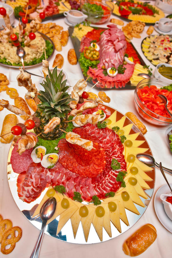 Het voedsel van de catering stock afbeelding