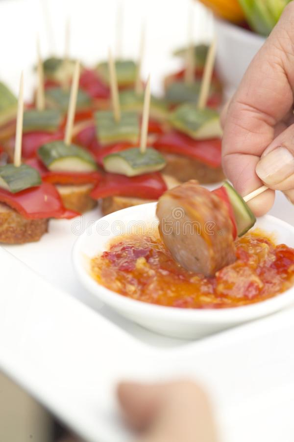 Het voedsel van de cocktail royalty-vrije stock foto's