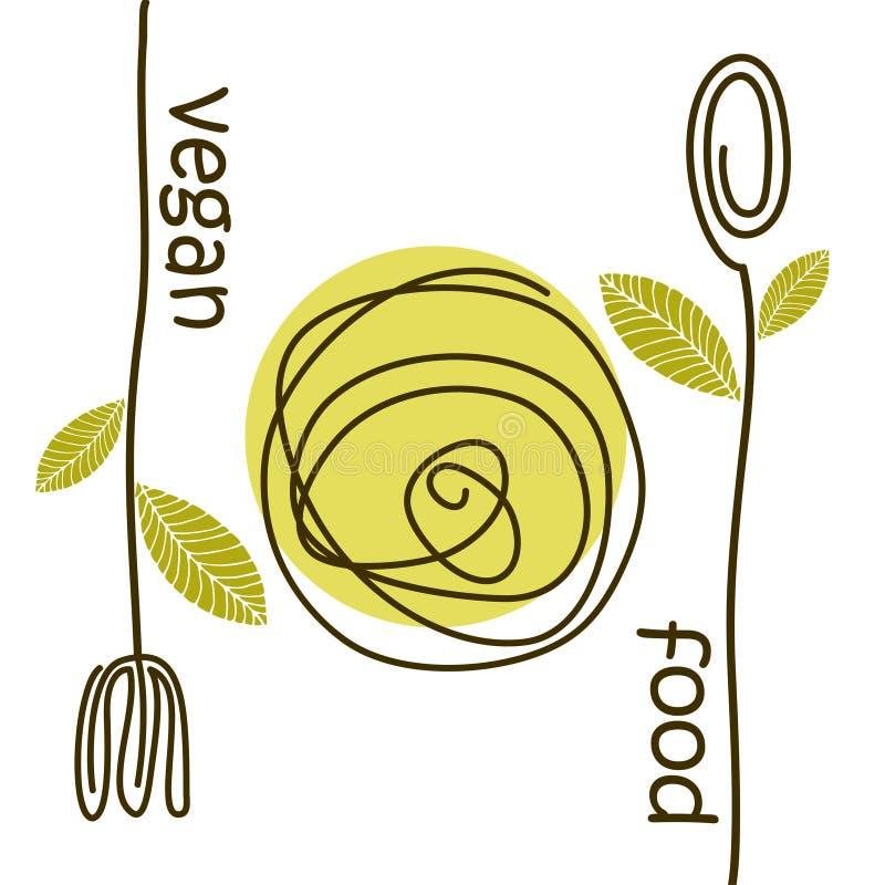 Het voedsel van de embleemveganist stock afbeelding