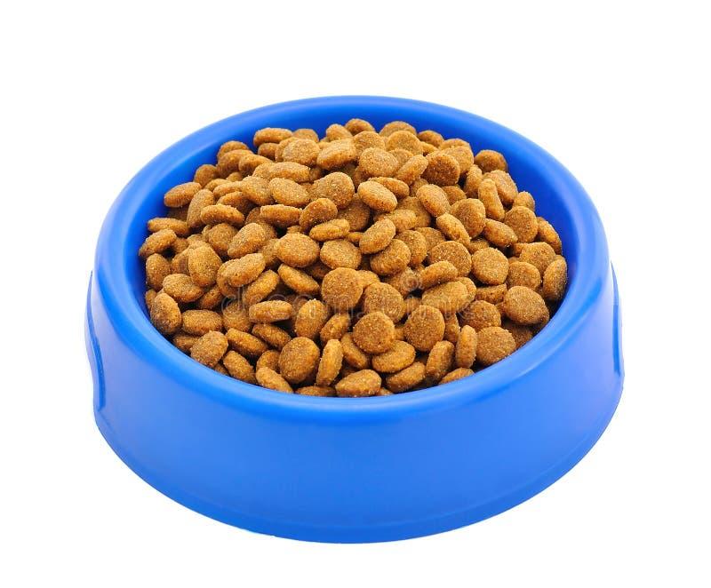 Het voedsel van de kat in een kom royalty-vrije stock foto