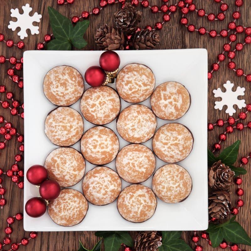 Het Voedsel van de Kerstmispartij royalty-vrije stock foto's