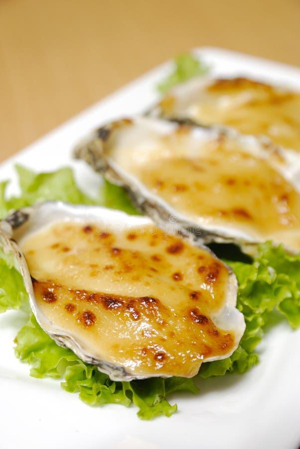 Het voedsel van de oester stock foto's
