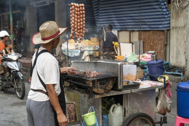 Het voedsel van de straat in Bangkok royalty-vrije stock afbeelding