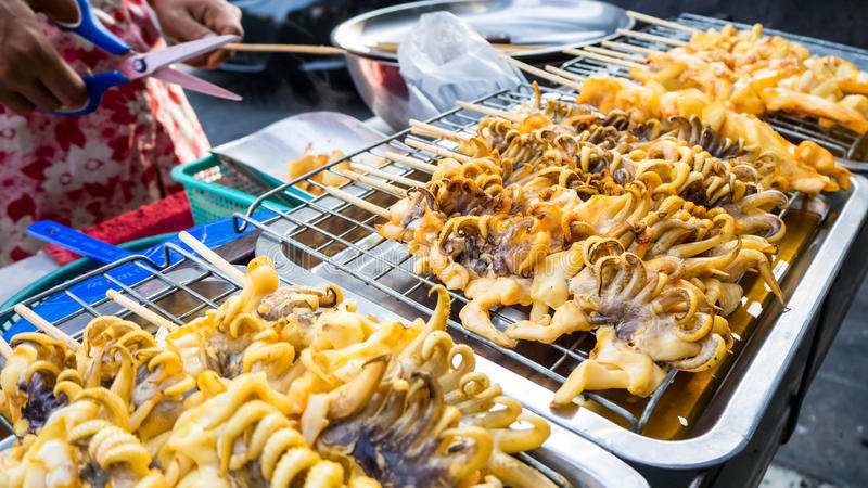 Het voedsel van de straat in Bangkok stock fotografie