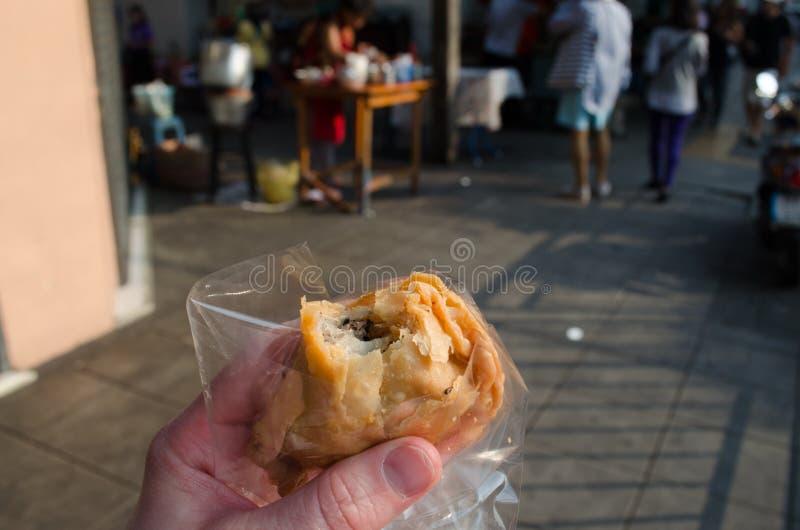 Het voedsel van de straat in Thailand stock afbeeldingen