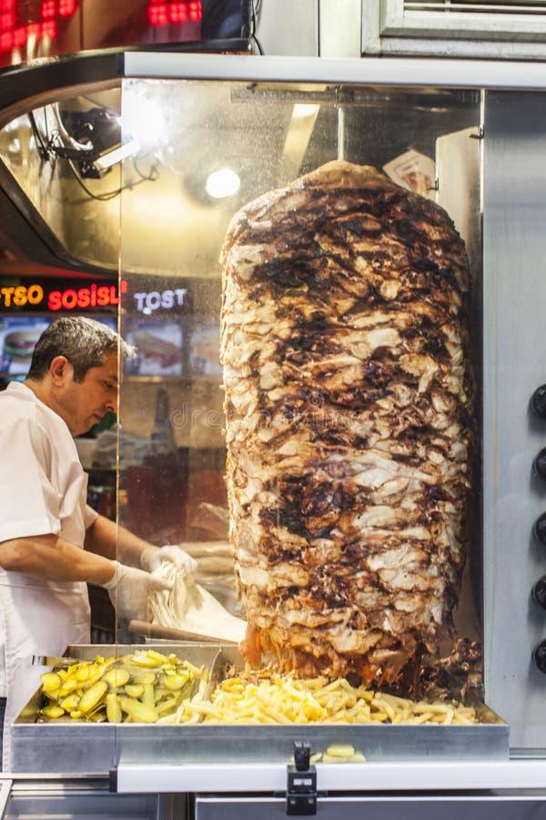 Het voedsel van de straat: Turkse keuken royalty-vrije stock afbeelding