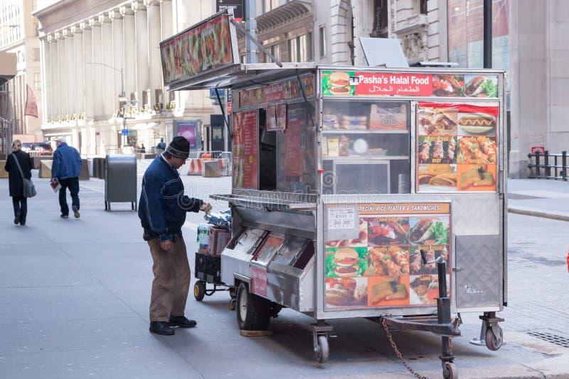 Het Voedsel van de Straat van de Stad van New York royalty-vrije stock foto's