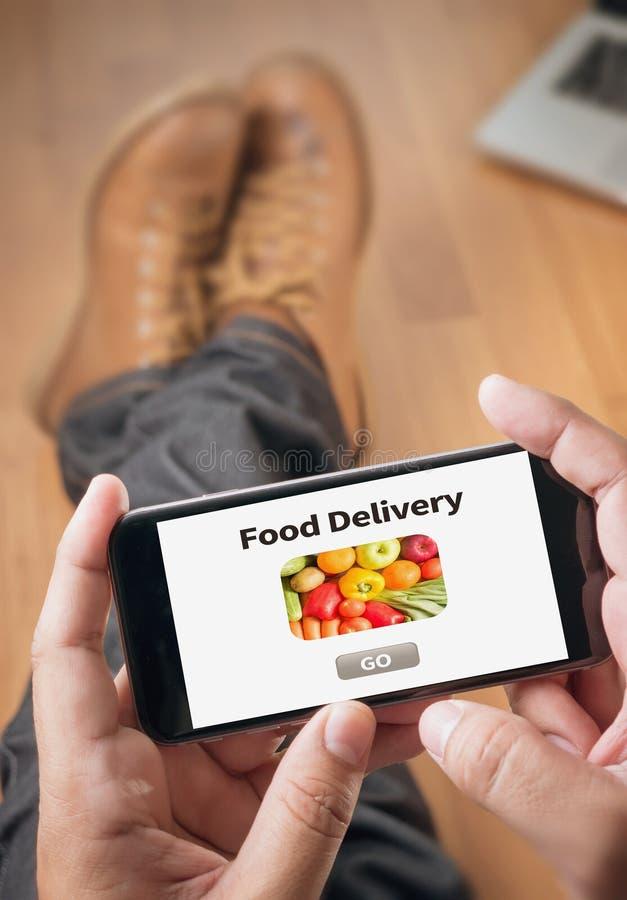 Het Voedsel van de voedsellevering stock afbeelding