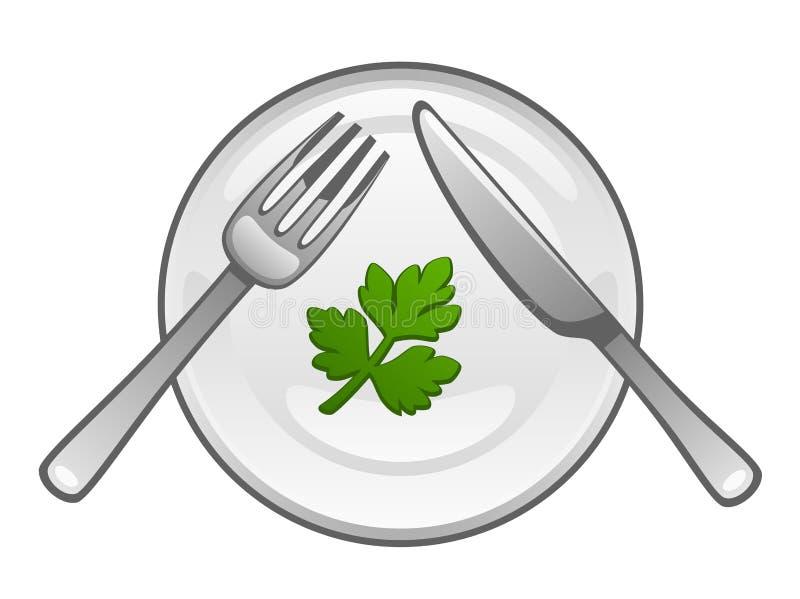 Het voedsel van het dieet royalty-vrije illustratie
