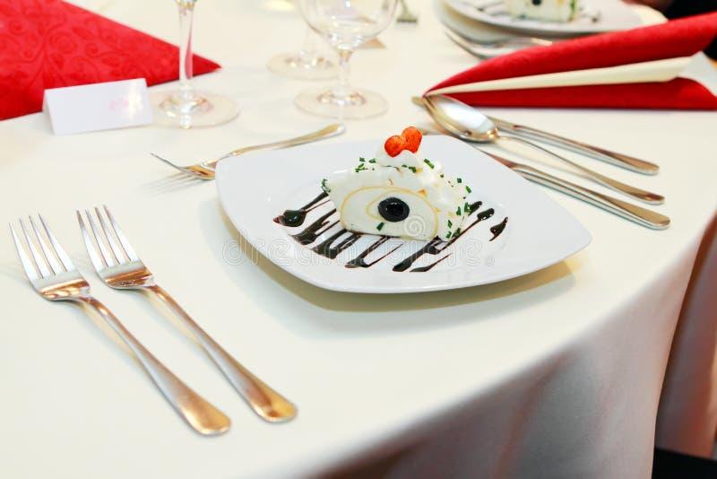 Het voedsel van het huwelijk royalty-vrije stock foto