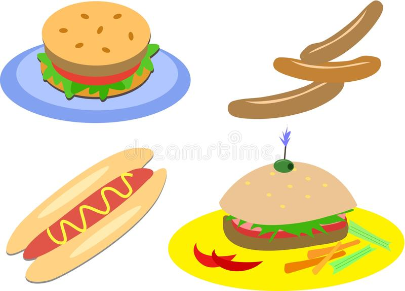 Het Voedsel van het vlees royalty-vrije illustratie