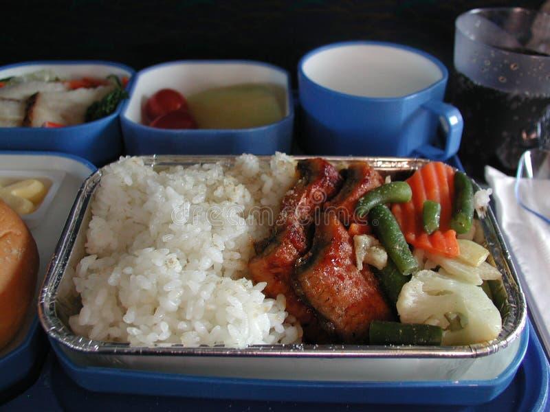 Het voedsel van het vliegtuig stock fotografie