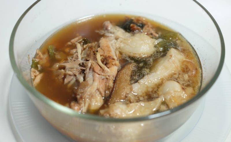 Het voedsel van het oogstvarkensvlees thaifood legpig royalty-vrije stock afbeelding