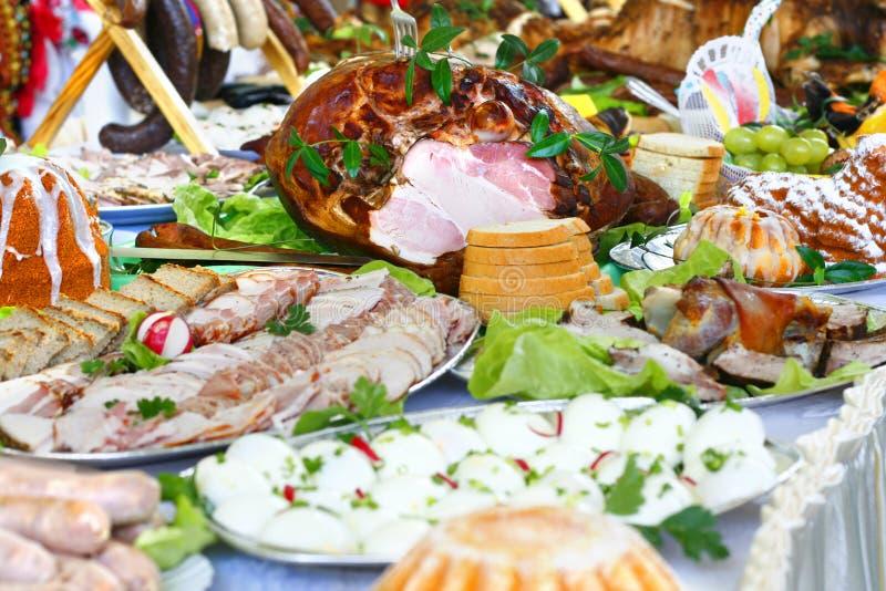 Het voedsel van Pasen stock fotografie