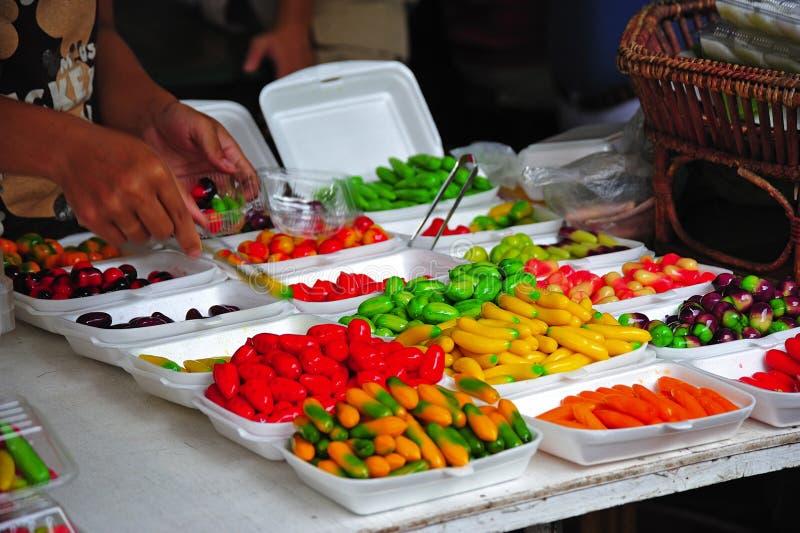 Het voedsel van Thailand Bangkok bij de markt royalty-vrije stock afbeelding