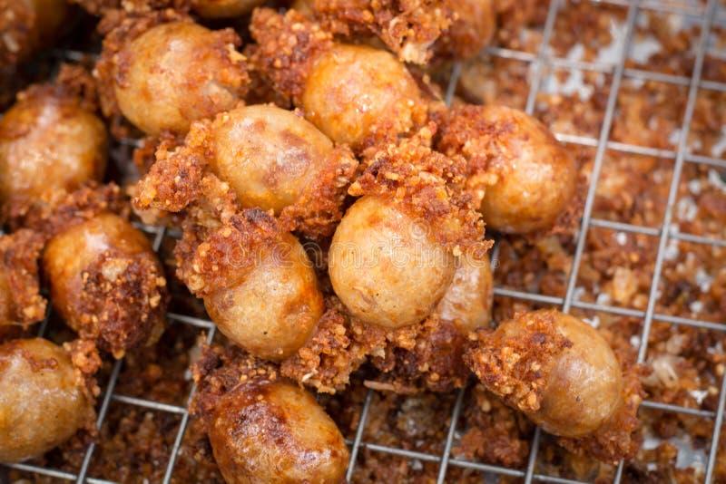 Het voedsel van worstfried thai stock afbeeldingen