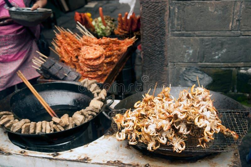 Het voedsel voor verkoopt stock fotografie