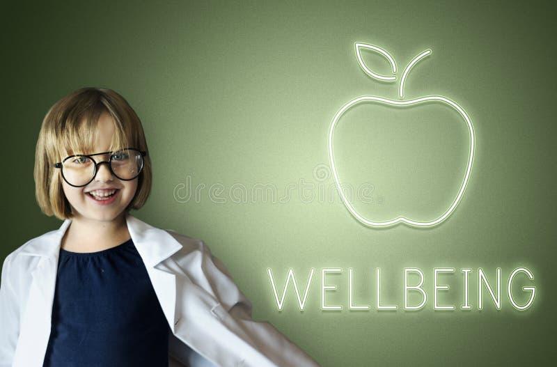 Het Voedselconcept van het Wellness Gezond Welzijn stock afbeeldingen