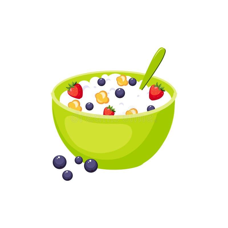 Het Voedselelement Geïsoleerd Pictogram van het graangewassenontbijt royalty-vrije illustratie