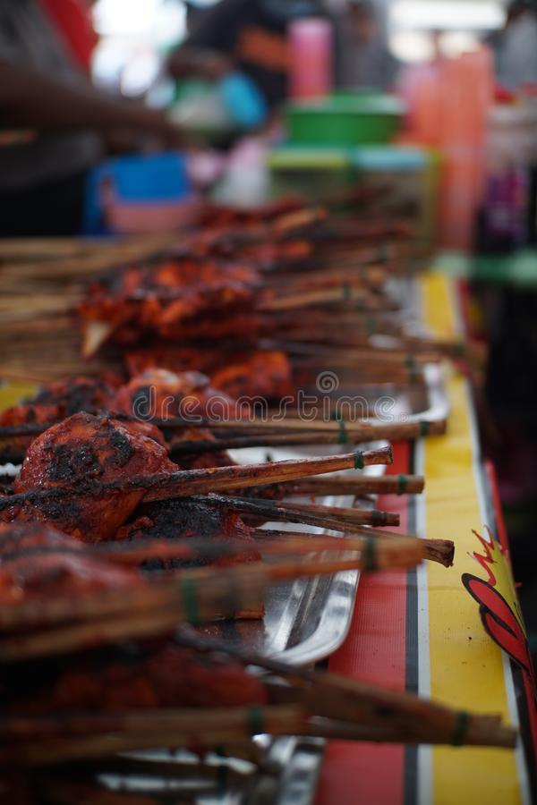 Het Voedseltentoonstelling van Maleisi? royalty-vrije stock afbeelding