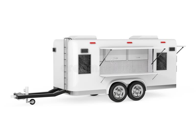 Het Voedselvrachtwagen van de luchtstroomcaravan het 3d teruggeven royalty-vrije illustratie
