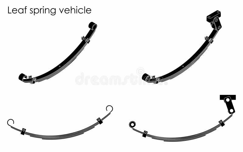 Het voertuig van de bladlente Zwart vul stock illustratie