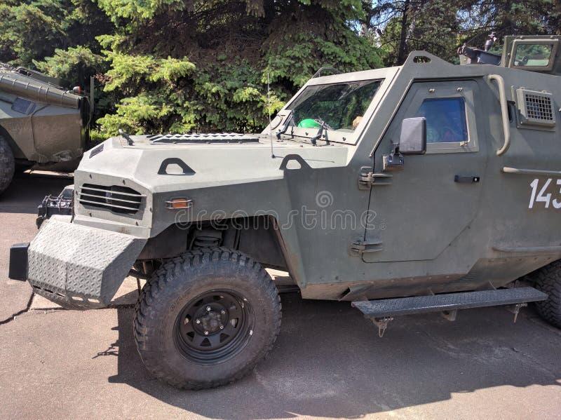 Het voertuig van de legeroekraïne stock afbeeldingen