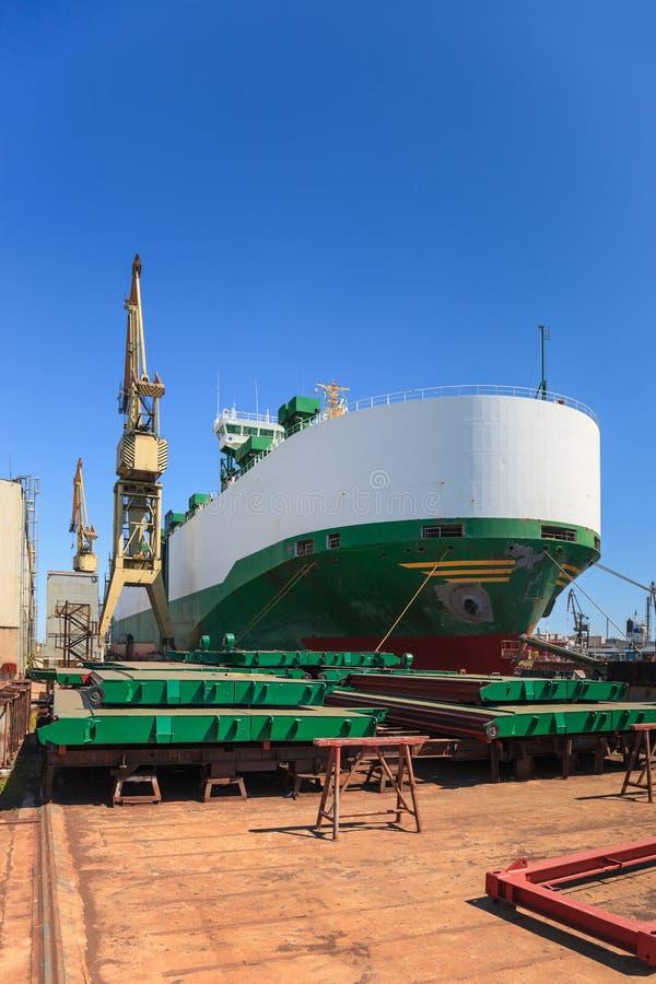 Het voertuigcarrier van het schip stock afbeelding