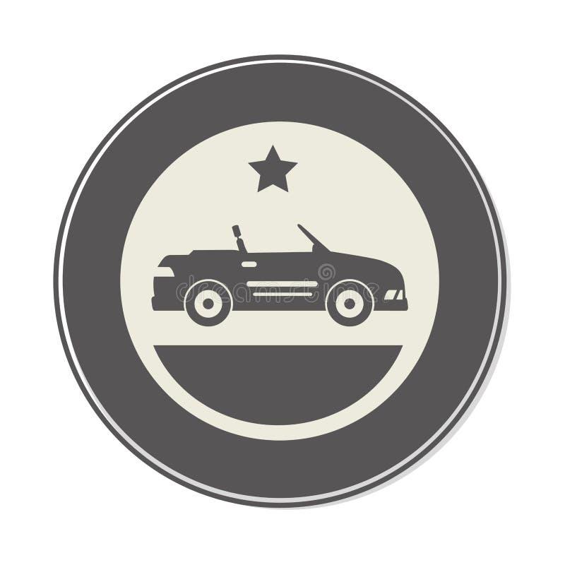 Het voertuigpictogram van de autosport royalty-vrije illustratie