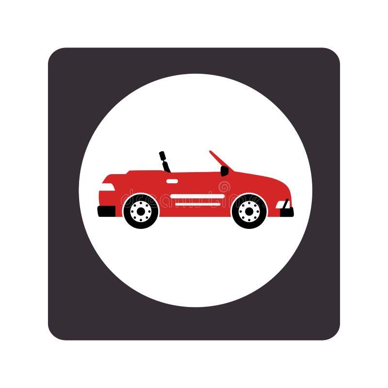 Het voertuigpictogram van de autosport vector illustratie