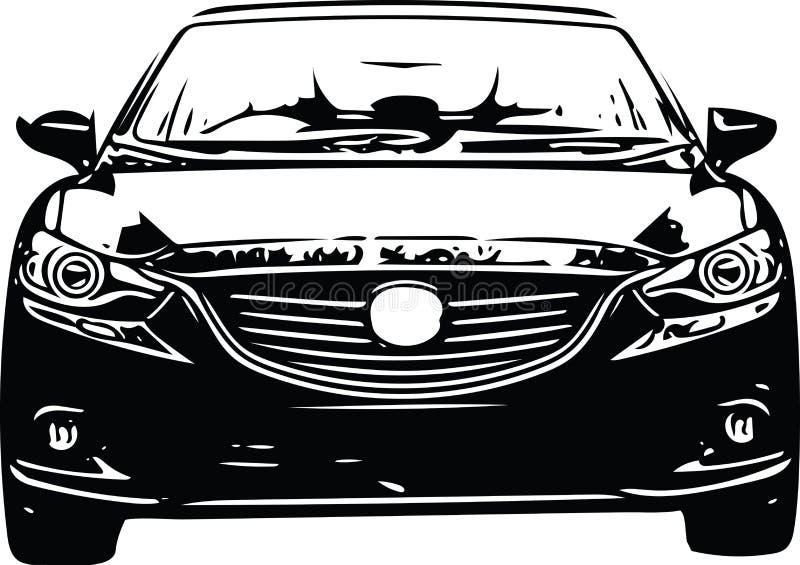 Download Het Voertuigsilhouet Van Conceptensportscar Vector Illustratie - Illustratie bestaande uit macht, silhouet: 107705320