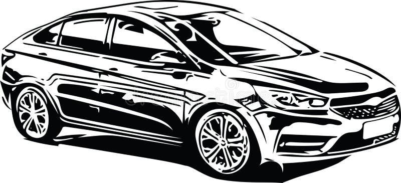 Download Het Voertuigsilhouet Van Conceptensportscar Vector Illustratie - Illustratie bestaande uit zaken, snel: 107705340