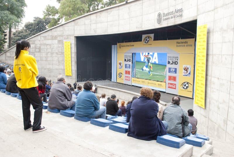 Het Voetbal 2010 van de Kop van de wereld stock afbeelding