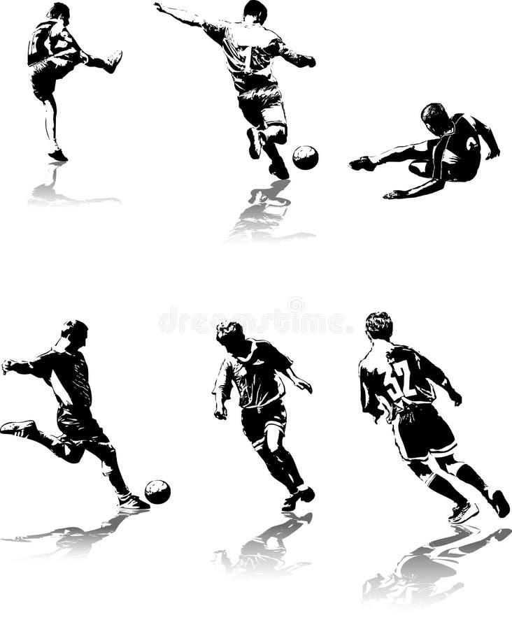 Het voetbal stelt #3 voor stock illustratie
